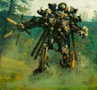 grindor transformer in forest