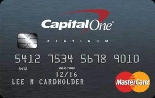 capital one credit card platinum mastercard