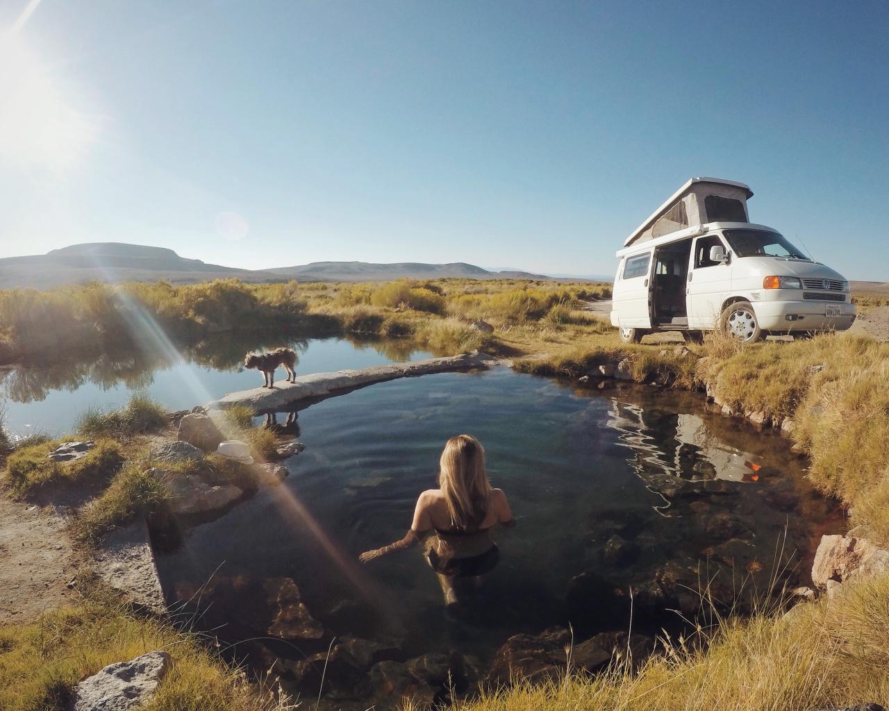 rv campsite trip